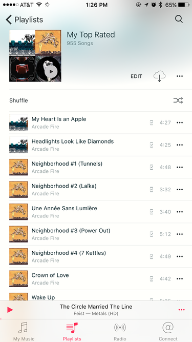 Apple playlist