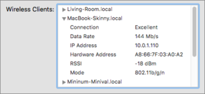 mac911 airport utility summary data rate