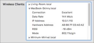mac911 airport utility summary data rate