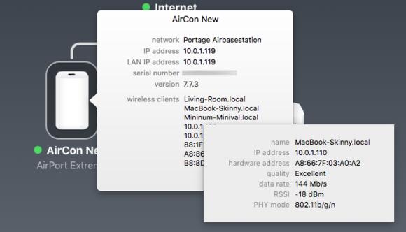 mac911 airport utility wireless client info