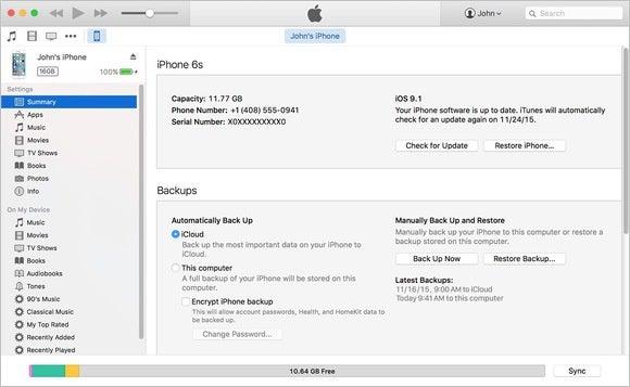 mac911 apple itunes backup