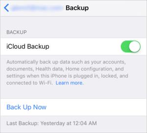 mac911 icloud backup settings