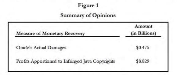 Oracle damages estimate