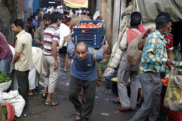 market delhi india