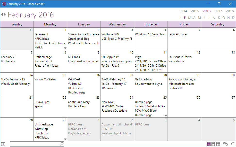 Onetastic Add In For Onenote Puts Your Notes In A Calendar Pcworld