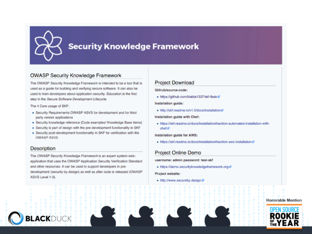 OWASP Security Knowledge Framework