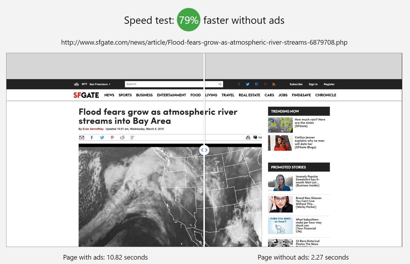 Operas testing a browser that kills ads accelerating webpage