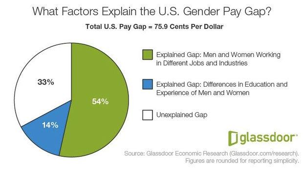pie chart gender pay gap