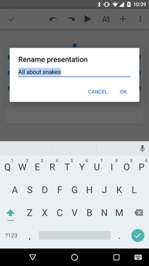 presentation naming