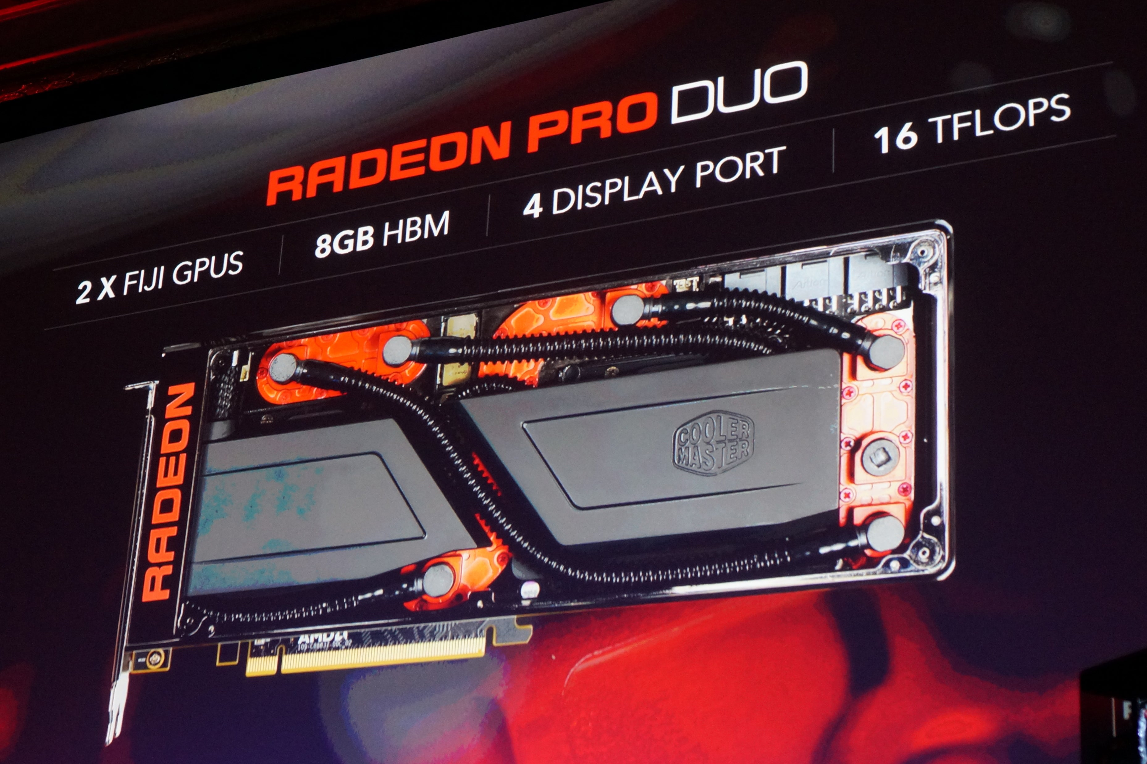 AMD's $1,500 dual-GPU Radeon Pro Duo graphics card is built
