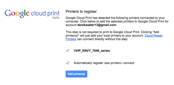 register printer