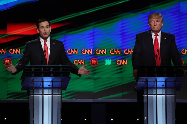 Rubio-Trump at debate