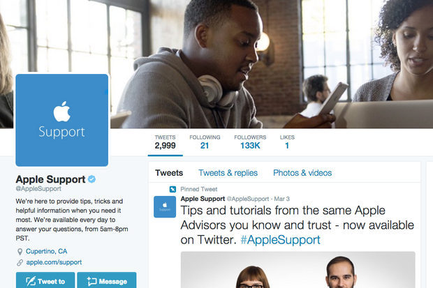 Apple Support joins Twitter, huge following ensues