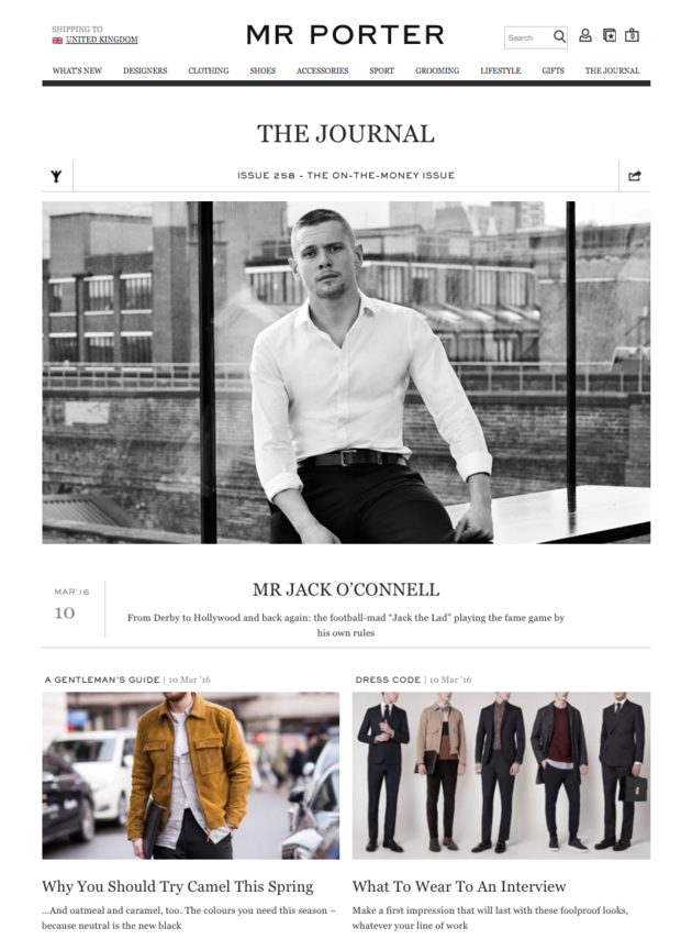 Mr Porter Journal