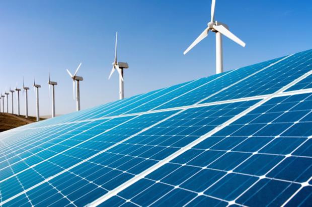 Solar power wind power