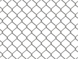 Chain link fence for security