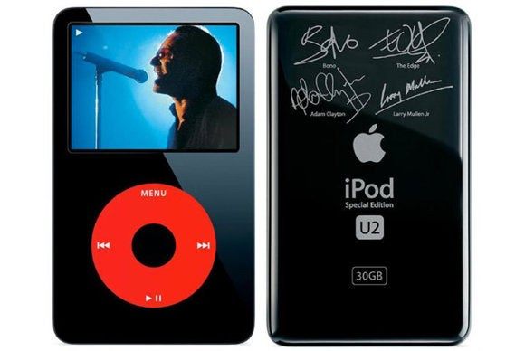 u2 special edition ipod front back