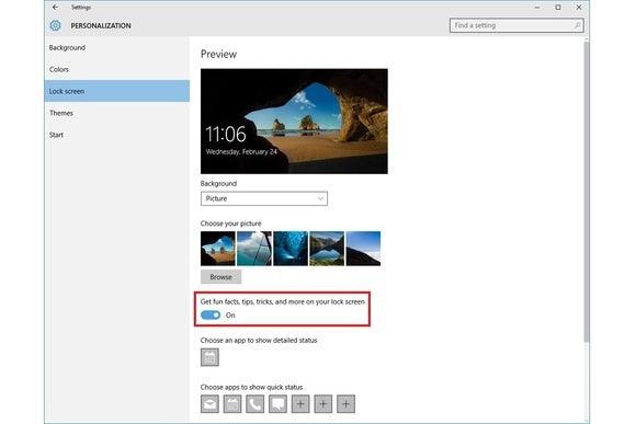 windows 10 lockscreen ads