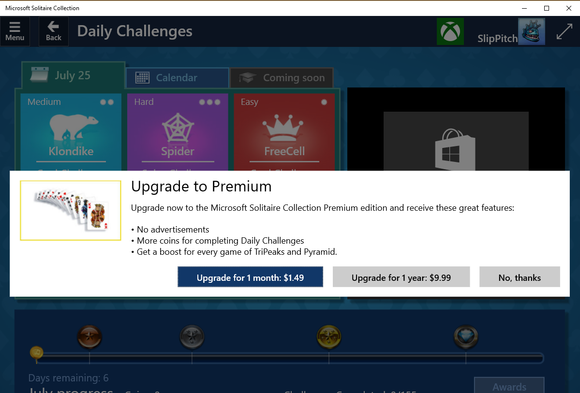 windows 10 solitaire ads