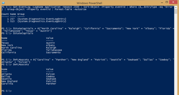 PowerShell hash tables fig 1