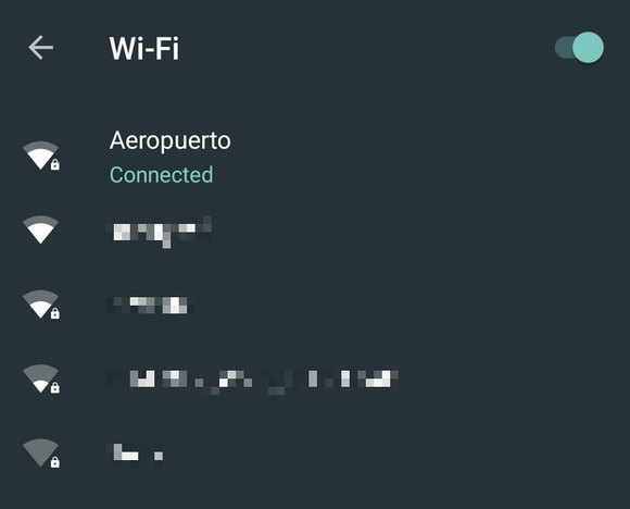 Android N new Wi-Fi network picker