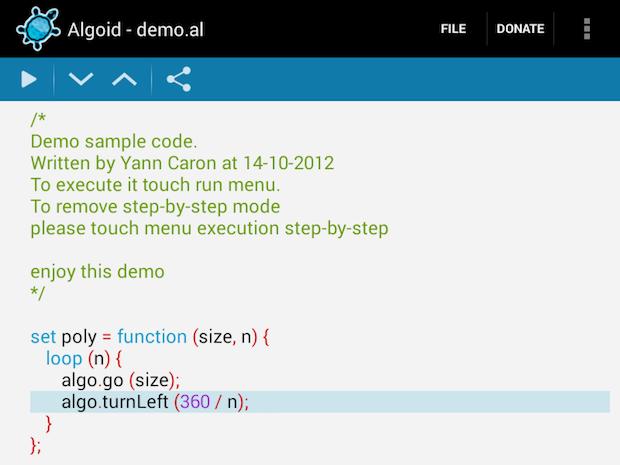 Algoid programming language