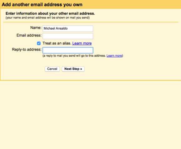and another email address