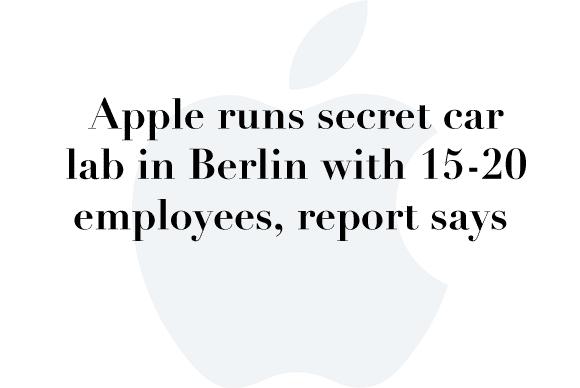 apple car secret lab