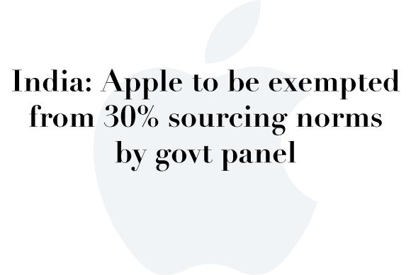 apple india exemption