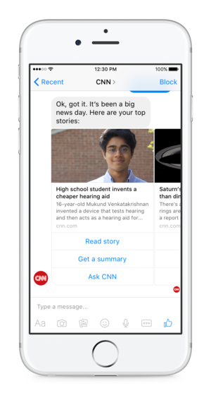cnn bot for facebook messenger iphone