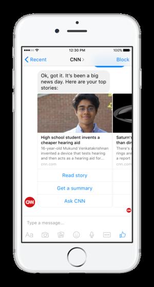 cnn bot for facebook messenger iphone