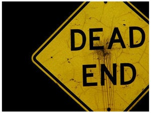 dead end street sign road