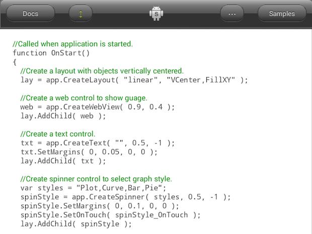 DroidScript programming IDE