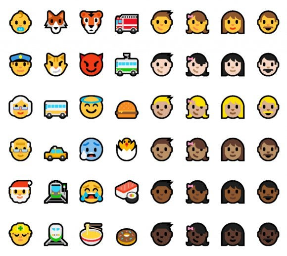 emoji windows 10 anniversary update
