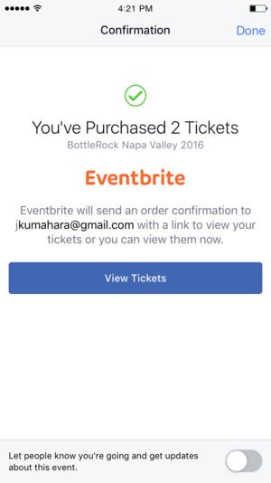 eventbrite facebook app