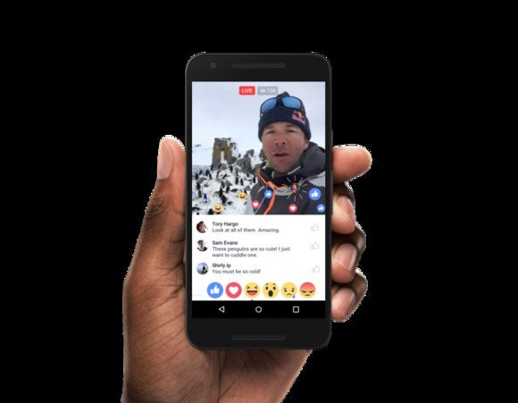 facebook live reactions android