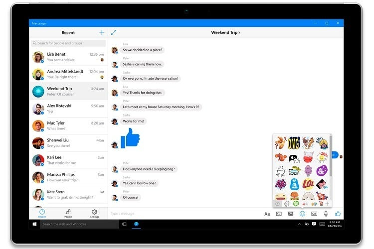 Facebook gives Windows 10 a hug with new Facebook, Messenger, and