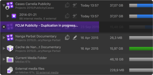 final cut library manager 3 duplicate