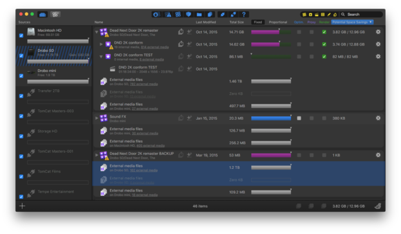 final cut library manager 3 user interface