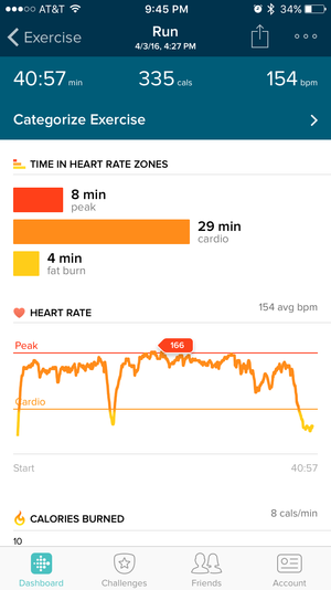 fitbit blaze cardio