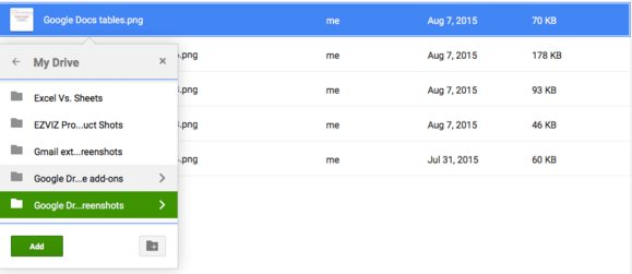 google drive add file