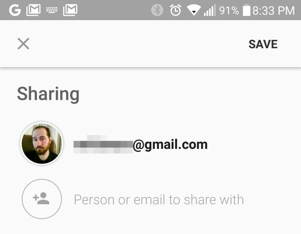 google keep tips sharing