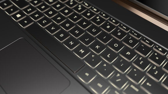 hp spectre 13.3 keyboard detail