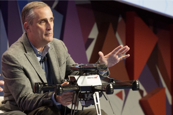 intel brian krzanich mobile world congress 2016 drones