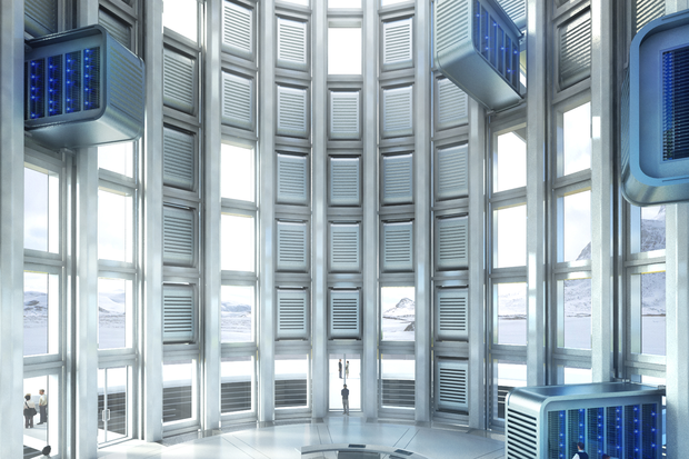 Data tower interior