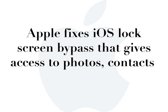 ios lock screen fix