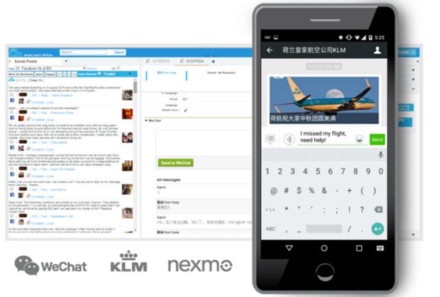 klm uses nexo