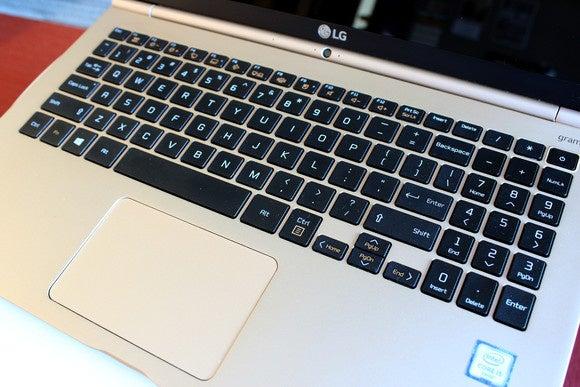 LG Gram 15 Keyboard and Trackpad Close-up