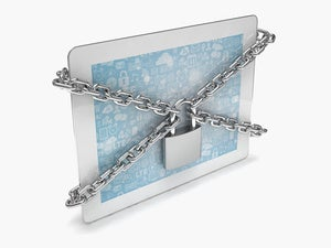 locked tablet clouds