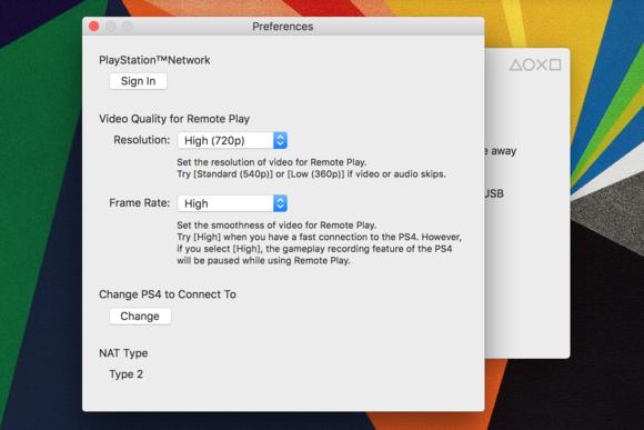 mac ps4 settings